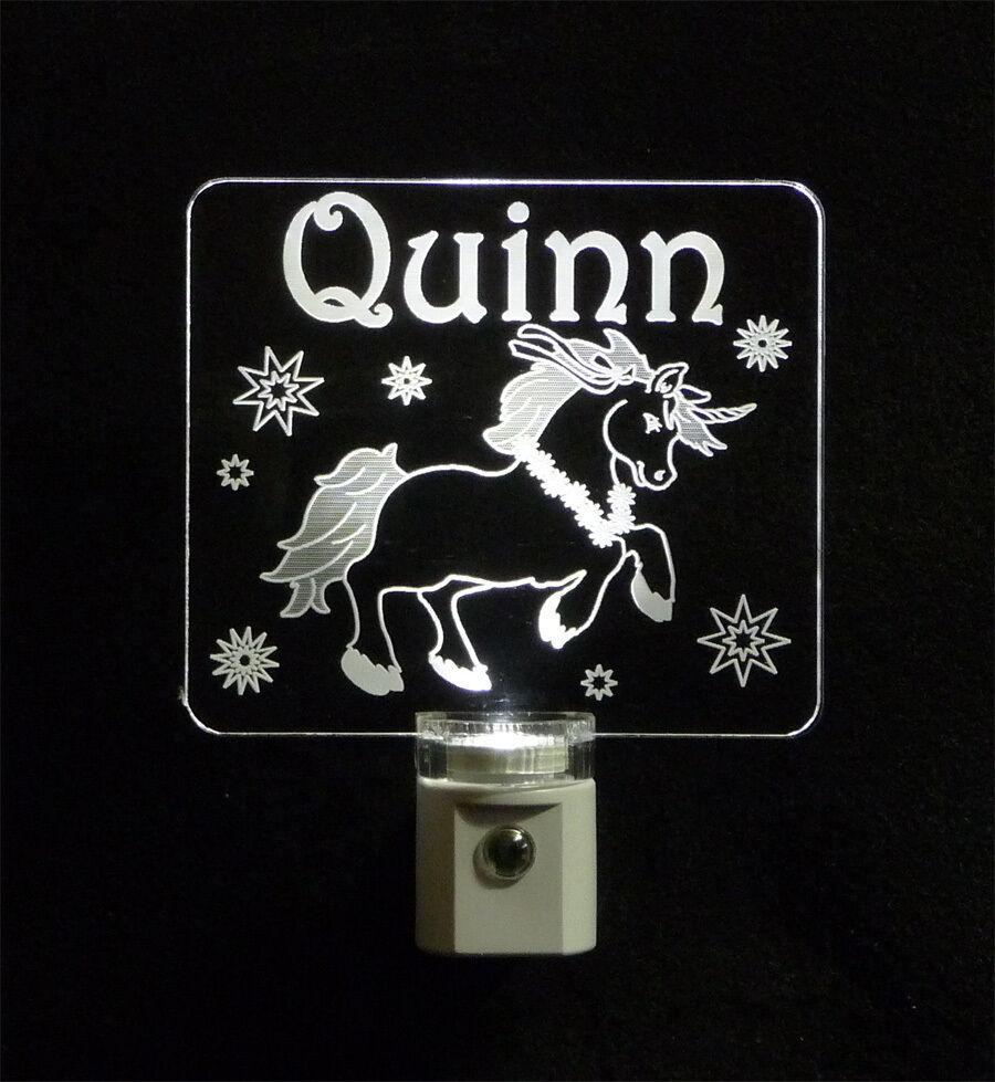 """Personalized Unicorn Night Light - LED - Girls Lamp 3/8"""" Acrylc image 9"""