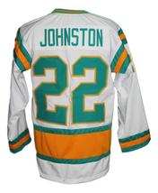 Custom Name # California Seals Retro Hockey Jersey White Johnston #22 Any Size image 2