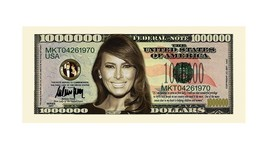 Pack of 25 - Trump Presidential Novelty Million Dollar Bills Melania Fir... - $8.90