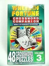 Wheel Of Fortune Crossword Companion Volume 3 (48 Puzzle Refills) New Se... - $16.99
