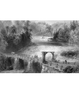 CANADA Montmorency River Bridge - 175 Years Old Print by BARTLETT - $13.50