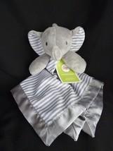 Circo Gray White Stripe Elephant Baby Security Blanket Lovey Satin Back ... - $564,03 MXN