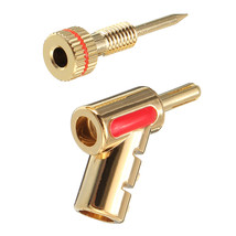 New Copper 4mm Audio Speaker Banana Plug Cable Free Welding Connector - $5.58