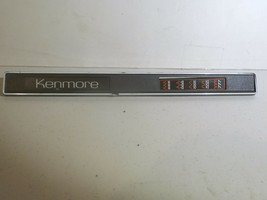 Kenmore Sewing Machine158.1680 Part Control Panel Name Plate w Stitch Guide - $8.80