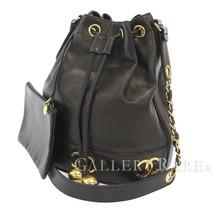 CHANEL Chain Shoulder Bag Lambskin Black Triple CC Italy Authentic 5473120 - $1,922.35