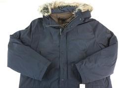 NWT MICHAEL KORS Men's Navy Blue Faux Fur Trim Hooded Snorkel Parka Coat... - $193.19