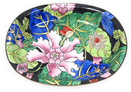 Kelvin Chen Colorful Tropical Flowers Catchall Caddy Vanity Tray, Enamel... - $55.97