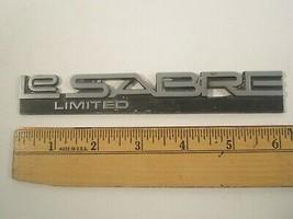 Vintage Metal Car Emblem Script Buick Le Sabre Limited [Y64E2] - $16.32