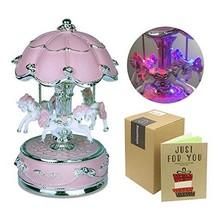 J Jhouselifestyle Carousel Music Box,Carousel Horse Music Box,Merry Go R... - $38.61
