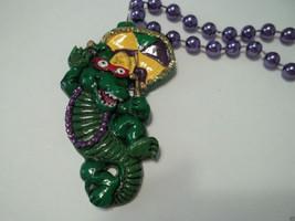Alligator Umbrella Gator Second line New Orleans Mardi Gras Bead Necklace - $6.55 CAD