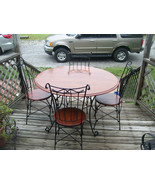 Mahogany Ice Cream Parlor Set / Dinette Set-Table & 4 Chairs  (DC2) - $699.00