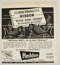1946 Print Ad Heddon River Runt Spooks Fishing Lures Shore Minnow Dowagi... - $10.87