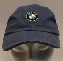 BMW Blue Strapback Hat Cap Embroidered Circle Logo Dad Cap Low Profile S... - $16.82