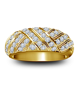 Mens Wedding Anniversary Ring 14k Yellow Gold Finish 925 Sterling Solid ... - $93.73