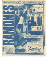 Vtg 1987 Ramones Flyer Fenders Ballroom D.I. Neighborhoods Subterranean ... - $74.99