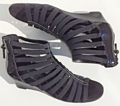 AerosolesYet Plane Wedge Sandal Size 5.5M strappy gladiator sandal blac... - $17.66