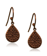 Women's Brass IP Coffee light CZ Brown Light Coffee Fashion Dangle & Dro... - $28.30