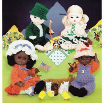 CROCHET AROUND THE WORLD CROCHETED DOLLS - $4.95