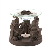 Elephant Trio Brown Fragrance Oil Warmer - $11.91