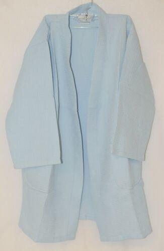 Mirko Thigh Length Waffle Weave Kimono Robe One Size Sky Blue