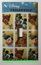 Art of Disney Friendship Stamps Light Switch Outlet Wall Cover Plate Home decor