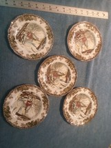 """5 pc bread plates Johnson Brothers The Friendly Village """"Sugar Maples"""" - $21.00"""