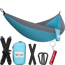 ToTheTop Camping Hammock Outdoor, Hiking, Backpacking, Yard Beach, Light... - $24.39