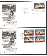 Erie Canal first day covers single & block of 4 Jul 4, 1967 Rome, NY - $2.99
