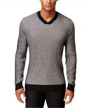 $85 Alfani Mens v-neck Knit Sweater, Deep Black cbo, Size 4XB - $44.54