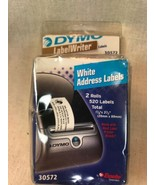 "Dymo 30572 Labelwriter White Address Labels 2 Rolls 520 1-1/8""x3-1/2"" New - $11.88"