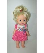 Vintage 1989 1990 Hasbro baby Eat N Grow Doll blonde hair teddy bear par... - $49.49