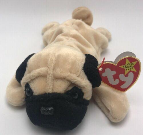 57ea5db82df8a4 NACHO The Chihuahua Dog Ty Beanie Pug: Ty Beanie Babies Pugsly The Pug Dog  1996