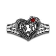 Enchanted Disney Villains Maleficent Engagement CZ Diamond Ring Starling... - $85.00