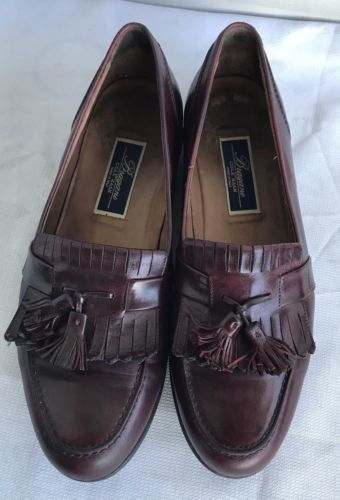 f0fd98e0466 12. 12. Previous. BRAGANO by COLE HAAN Made In Italy Dark Brown LEATHER  TASSEL LOAFERS ...