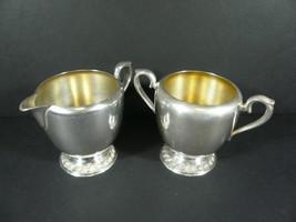 Antique AVON Wm Rogers Silver Plated Creamer & Sugar 3603 / 3604 - $14.99
