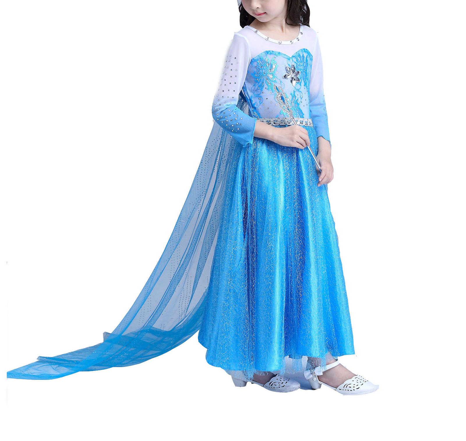 Primary image for Girl's Princess Elsa Long Sleeve Halloween Costume Dress