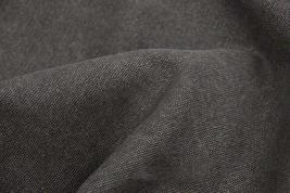 43'' Wide Handworked Fabric Thick Canvas Fabric Charcoal Grey (17.543 Inches)