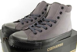 Converse Chuck Taylor All Star PC Boot Charcoal Grey Suede Leather 153673C - $56.00