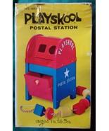 Vtg 1960s Playskool Postal Station In Box Mailbox - $24.99