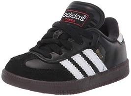 adidas Samba Classic (6 Big Kid|Little Kid (4-8 Years)|White/Black/White) - $61.27