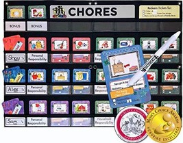 NEATLINGS Chore Chart System | 1-3 Kids | 80+Chores | Purple, Pink, DkBl... - $68.95