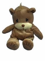 Vtg Precious Moments Tender Tails Brown Bear Plush Stuffed Animal Lovey ... - $12.86