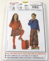 Burda 9729 Sewing Pattern Childs Pants Coat Skirt Size 3 Thru 8 Uncut - $8.99