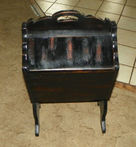 Black Distressed Pine Sewing Cabinet / Sewing Stand  (DR46) - $199.00