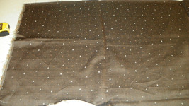 Brown Cream Dot Print Upholstery Fabric Remnant  D17 - $561,36 MXN