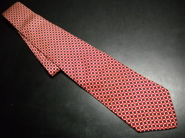 Brooks Brothers Makers Neck Tie Silk Cream and Red Tie Made in USA - $11.99