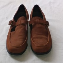 Rockport Womens Size 10M Tan Leather Suede Loafers Shoes Made in Brazil - $17.99