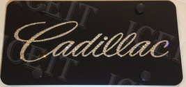 "For Cadillac Black Front license plate frame 1/2"" Thick made WSwarovski Crystal - $79.19"