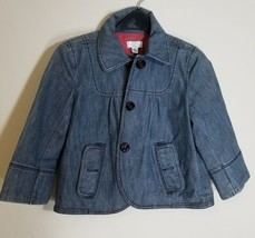 Ann Taylor Loft Women's Petite Pinstripe Blue J EAN Jacket Size 2P Cotton Blend - $19.59