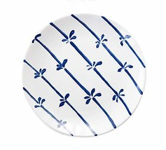 Gentle Meow 8 Inch Creative Cartoon Ceramic White Round Dishes, Blue Tree Vines - $19.23